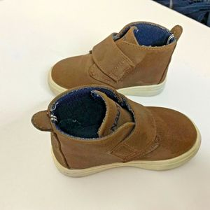 Nautical High Top Infant Sneaker Boots Shoes Sz 5